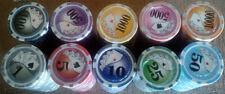 1000 poker chips yin yang fan 8 stripe 11.5 gram