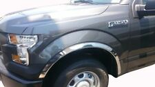 FORD F-150 2015-2017 STAINLESS STEEL FENDER TRIM MOLDING SET - W/O FLARES