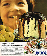 PUBLICITE ADVERTISING 015  1976  CARAIBO  glaces de MIKO