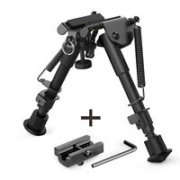 Tactical Rifle Bipod 6-9 Inches Adjustable Foldable Leg w/ Adapter for 20mm Rail
