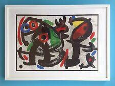 Joan MIRO Tableau 53x73cm Lithographie Originale 1970 Maeght Abstrait Encadrée