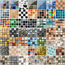 18pcs Kitchen Bathroom Tile Stickers 3D Mosaic Sticker Self-adhesive Wall Decor
