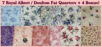 Lot Royal Albert Doulton Fat Quarters Cotton Fabric Lady Carlyle Moonlight Rose+