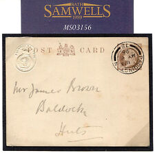 Ms3156 1896 Gb Official Stationery *House of Commons* Embossed Card Baldock