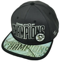 NHL Zephyr Stanley Cup 2016 Champions Pittsburgh Penguins Snapback Hat Cap Gray