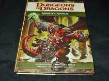 TSR Wizards - D&D Dungeons & Dragons : Monster Manual Roleplaying Rule (4th Ed)