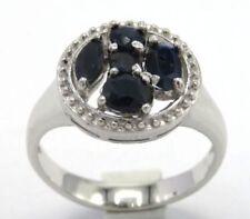 Anelli di lusso con gemme naturali blu Misura anello 18