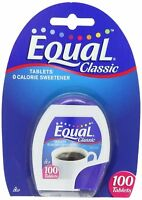 Equal Tablets Original Equal Taste 0 Calorie Sweetener 100 Tablets (Pack of 6)