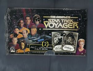 STAR TREK VOYAGER THE COMPLETE SERIES FACTORY SEALED BOX 2 AUTOGRAPHS PER BOX !
