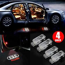 4x LED Logo Light Shadow Projector Car Door Courtesy Laser for Audi A4 A6 A8 Q7