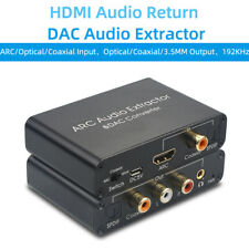 HDMI Audio Extractor Coaxial Optical to RCA 3.5mm Analog Splitter Converter DAC