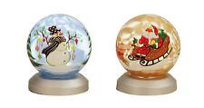 Moderno Bola de Cristal Navidad con Luz Led Azul O Oro altura 9cm