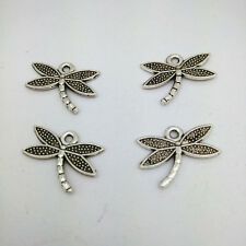 40pcs Tibetan silver Small dragonfly Charms Pendants Jewelry Findings
