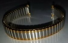 """New Timex Expansion 8-12mm Long 6"""" Polished Yellow Gold & Silver Tone Watch Band"""