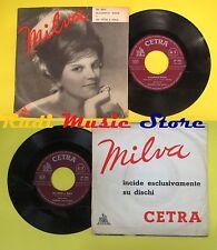 LP 45 7'' MILVA Da solo a sola Flamenco rock 1960 italy CETRA SP886*no cd mc dvd