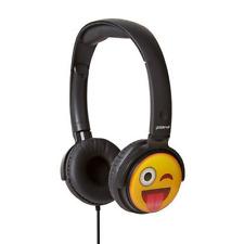 GROOV-E KIDS EARMOJI EMOJI DJ STYLE STEREO HEADPHONES - CHEEKY FACE - GV-EMJ11
