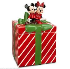 Disney Store Mickey Minnie Mouse Cookie Jar Gift Box Red Green New
