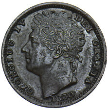 More details for 1830 half farthing - george iv british copper coin - very nice