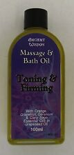 Aromatherapy Toning & Firming Massage & Bath Oil 100ml with Pure Essential Oils