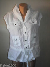 NEXT WHITE COTTON WOMENS GILET SIZE 10 PETITE NWT