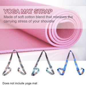 Yoga Mat Sling Carrier Shoulder Carry Strap Belt Exercise Stretch Adjustable