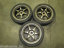 (X3) JDM Aftermarket Bronze Wheels 17X7.5 +45OFF Rims 5X114.3 Only 3 set