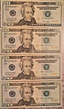 2009 and 2013 $20 United States Federal Reserve StarNotes: Lot of Four Notes