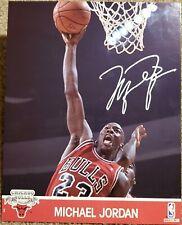 Michael Jordan Signed Auto Photo Card Bulls Jersey Dunking