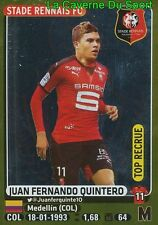 408 JUAN QUINTERO COLOMBIA TOP RECRUE STADE RENNAIS.FC STICKER PANINI FOOT 2016