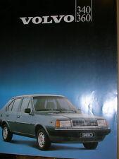 BROCHURE VOLVO 340 360  MODELE  FRANCAIS 1983