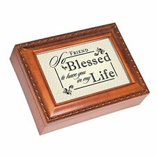 """Blessed To Have You Black Script Music Box """"Great is Thy Faithfulness"""""""