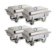 Set 4 pezzi chafing Dish cibi più caldo calore contenitore Catering incl. GN 1/1