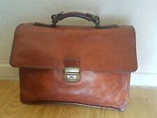 Ancien Sacoche/sac/cartable professeurs en cuir vintage
