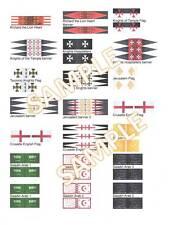 1/72 28 mm Stile FONDERIA Riccardo Cuor di Leone Saladino CROCIATE Gerusalemme ARABA Bandiere