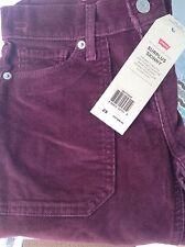 "Levi's Surplus Midrise Jeans Skinny Burgundy Red Corduroy 25"" W 28"" Inseam NWT"
