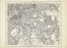 Old map London 1877 #15 repro - Camberwell, Walworth, Peckham, Old Kent Road etc