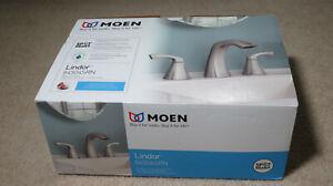 Moen Lindor 84504SRN Widespread Spot Resist Bathroom Sink Faucet