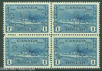 CANADA  SCOTT#O262  BLOCK OHMS PERFIN   MINT NEVER  HINGED FULL ORIGINAL GUM