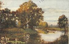 BR81110 the river cherwell below the parks   uk postcard painting