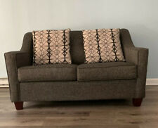 Love Seat With Sleeper Memory Foam Mattress Twin Grey Bed Secondary Sleeping New