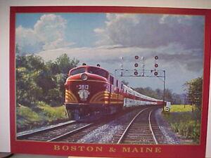Railroad Art,Winfield,B&M's Yankee Flyer, 18X24, s (2103)