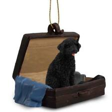 Portuguese Water Dog Traveling Companion Dog Figurine In Suit Case Ornament