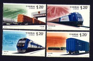 China 3816-19 Eisenbahn postfrisch