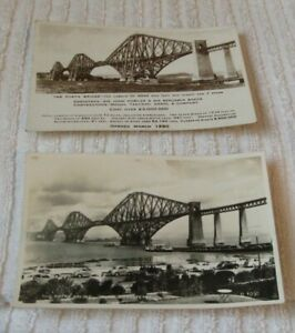 VINTAGE (RARE) POSTCARDS  ** TWO DIFFERENT SCENES OF THE FORTH BRIDGE **