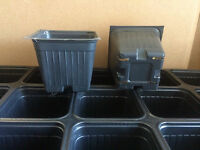 SEED STARTER  PLASTIC FLOWER NURSERY PLANT TRAYS  POTS -   QUANTITY 300