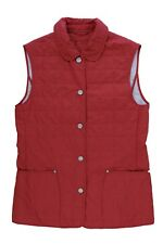 JOBIS WOMAN QUILTED SOFT RED WINTER VEST SIZE 6