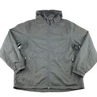CHAMPION Mens Size XL Grey Nylon hooded Windbreaker Jacket