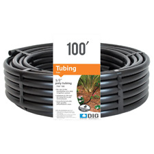 1/2 in. x 100 ft. Line Sprinkler System Tube Drip Irrigation Tubing Poly Emitte