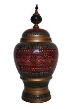 """14"""" Hand-Crafted Multi-Colored Wooden Candy Jar"""