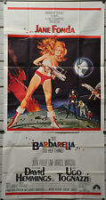 BARBARELLA 1968 ORIG 41X81 3-SHEET MOVIE POSTER JANE FONDA JOHN PHILLIP LAW